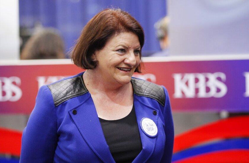 SAN DIEGO, CA - JUNE 7, 2016 - | Toni Atkins at Golden Hall in downtown San Diego.