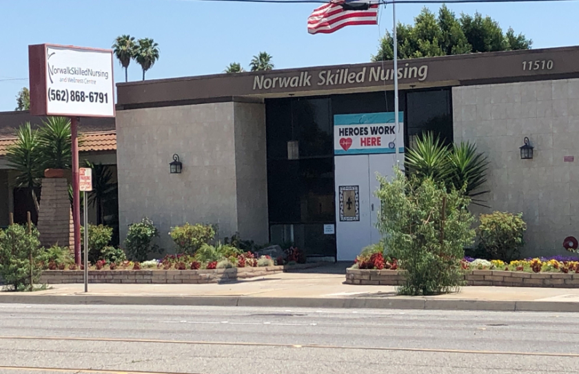 Norwalk Skilled Nursing & Wellness Center suffered a significant COVID-19 outbreak.