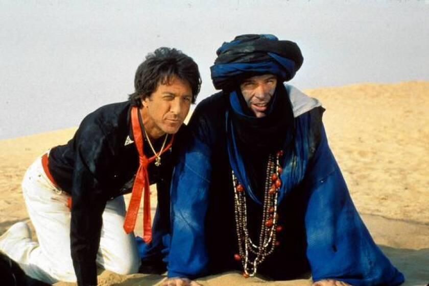 "Dustin Hoffman, left, and Warren Beatty in ""Ishtar."""