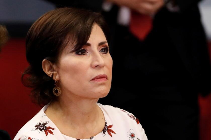 Exministra mexicana Rosario Robles, secretaria de Desarrollo en el Gobierno de Enrique Peña Nieto (2012-2018).