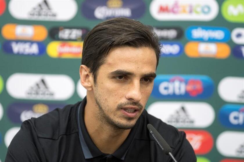 En la imagen, Bryan Ruiz jugador de la selección de Costa Rica. EFE/Archivo