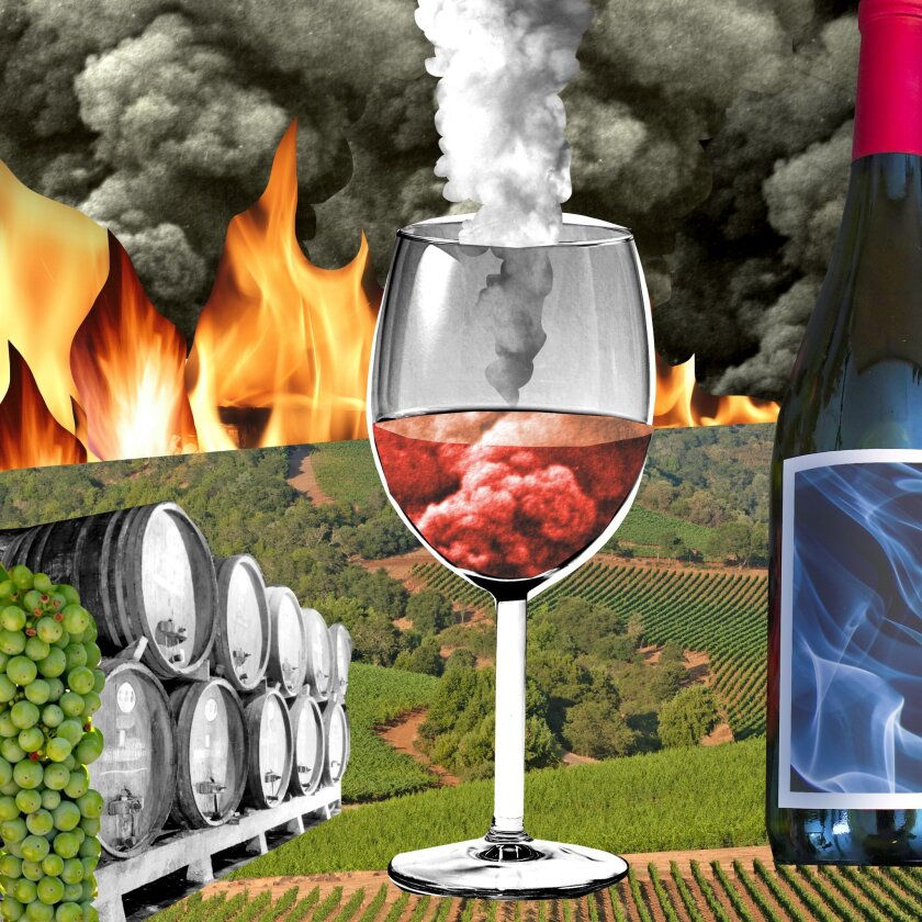 la-fo-0105-smoke-gets-in-your-wines /// Illustration by Johanna Goodman / For The Times. To run 01/0