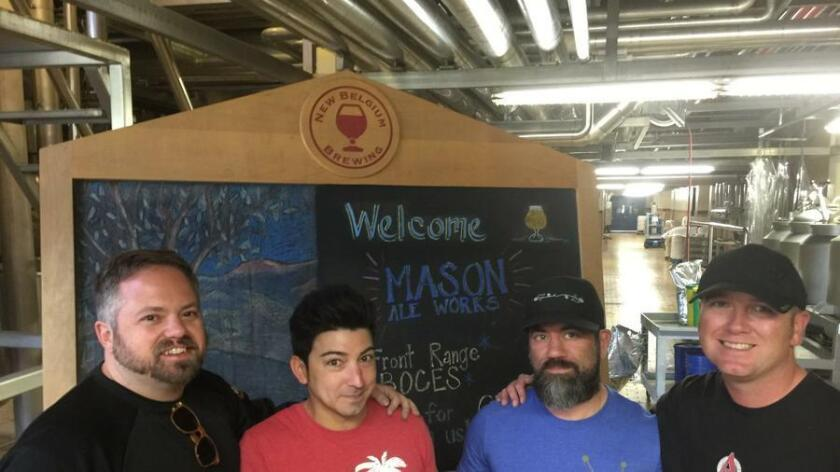 Co-owner Grant Tondro (left), Brewer Jason De La Torre, Head Brewer Mike Rodriguez, and Co-owner Nate Higson. (Courtesy photo)