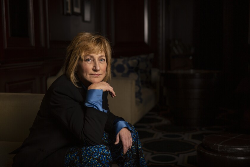 "Edie Falco, star of CBS' ""Tommy,"" at the Langham Huntington Hotel in Pasadena."