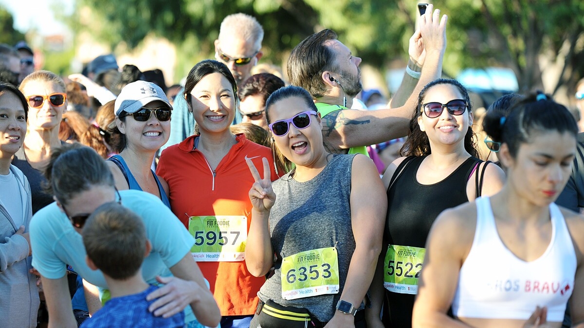 Food, fitness and the finish line were the goals at the Fit Foodie Festival and 5K at Liberty Station on Saturday, Oct. 20, 2018.