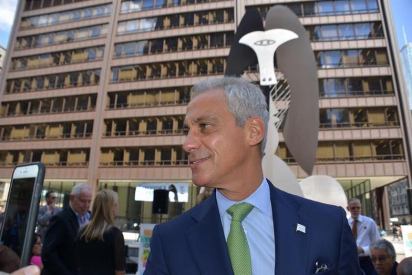 Fotografía de archivo del alcalde de Chicago, Rahm Emanuel. EFE/Archivo