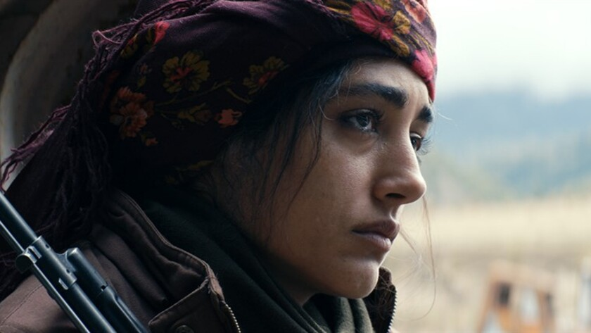 """Golshifteh Farahani as """"Bahar"""" in GIRLS OF THE SUN directed by Eva Husson. Credit: Cohen Media Group"""