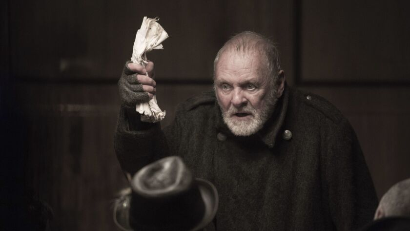 "Anthony Hopkins in ""King Lear"" on Amazon Prime."