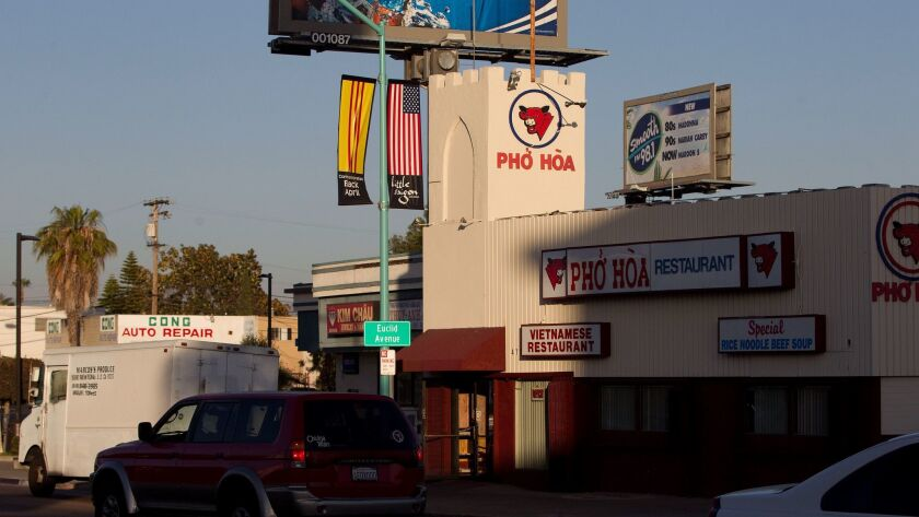 June 17, 2013_San Diego_ California_.Scene setters of the Little Saigon District which is on El Cajo