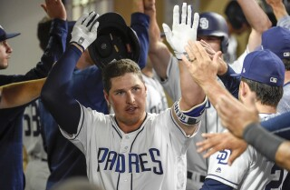 Hunter Renfroe blasts three homers in record day at Petco Park