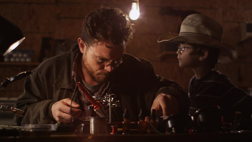 """(L-R) - Clayne Crawford and Colt Crawford in a scene from """"Tinker."""" Credit: Gravitas Ventures"""