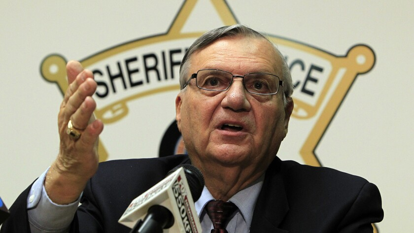 Maricopa County Sheriff Joe Arpaio, whose office was sued by two people who were denied bail.