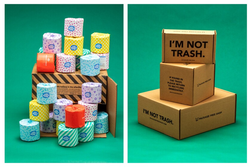 Packages without plastic. It can happen.