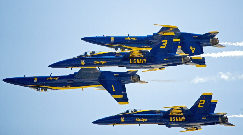 Blue Angels to fly over Los Angeles on Sunday evening