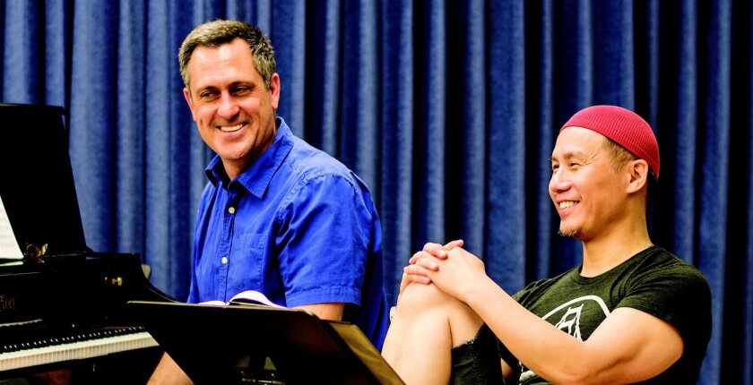 Music director Robert Meffe (left) and actor-director-writer BD Wong are collaborating at SDSU.