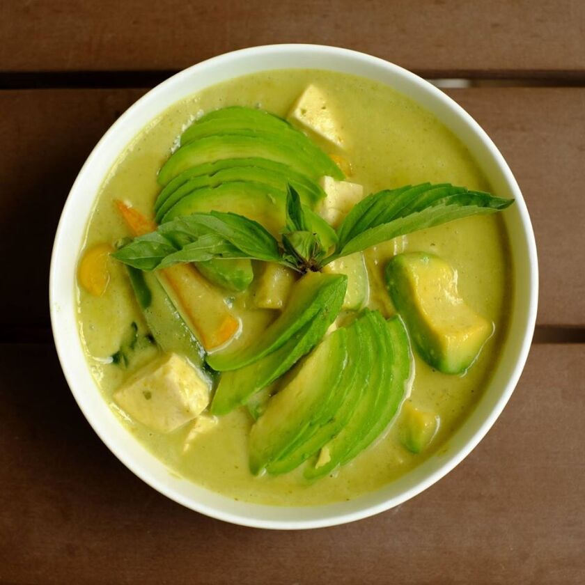 Green curry from Bahn Thai in Hillcrest