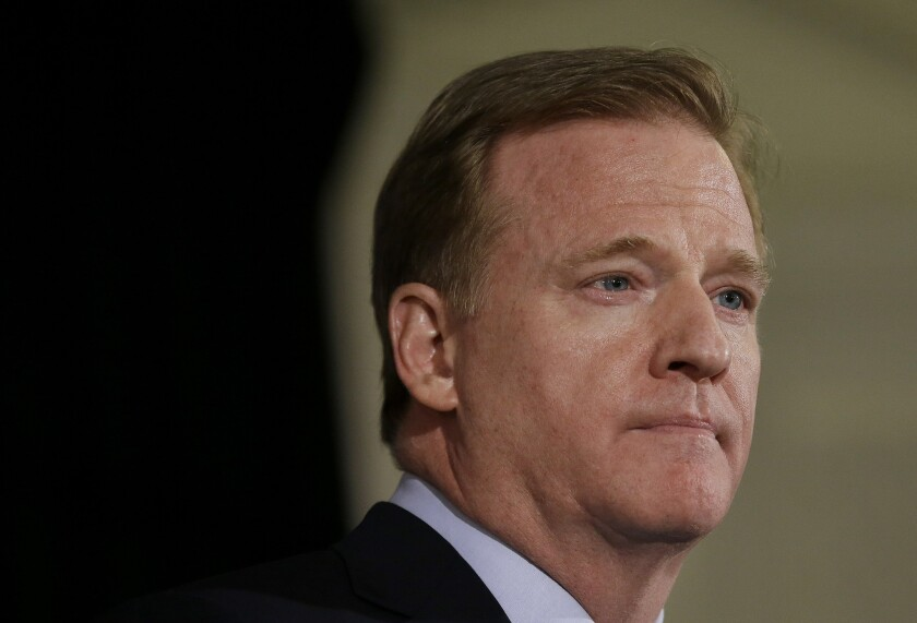 NFL commissioner Roger Goodell sent a memo to all 32 teams Thursday concerning the next phase of the league's reopening plan.