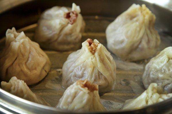 Wuhan shiu mai dumplings are thin-walled and shaped like nuclear cooling towers.