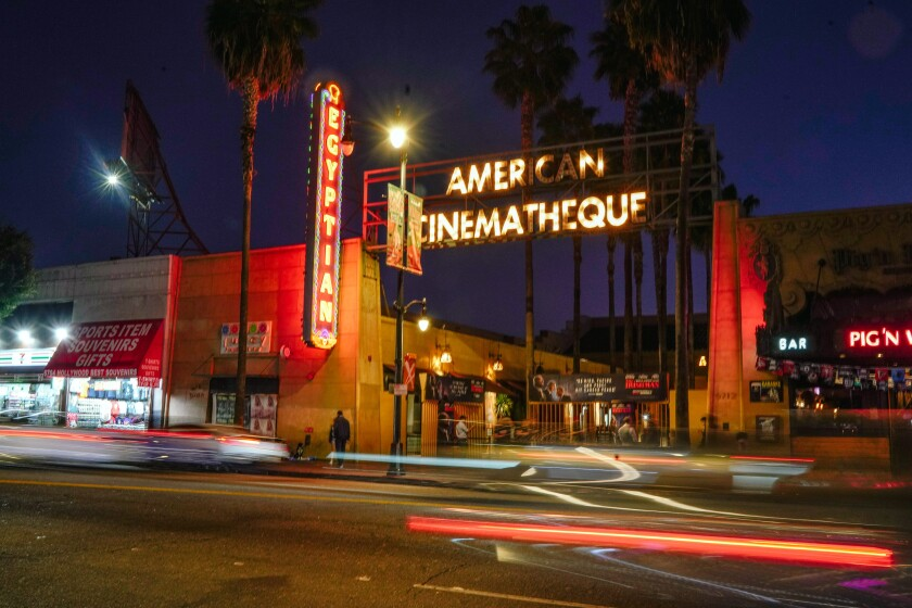 The Egyptian Theatre on Hollywood Boulevard.