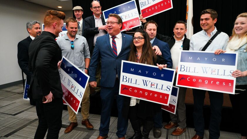 El Cajon Mayor Bill Wells at a press conference announced his candidacy for the 50th Congregational
