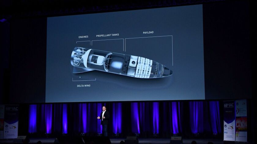 SpaceX Chief Executive Elon Musk speaks about the company's new BFR rocket and spaceship system at the International Astronautical Congress on September 2017 in Adelaide, Australia.