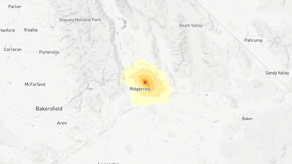 Earthquake reported near Ridgecrest, Calif. - Los Angeles Times