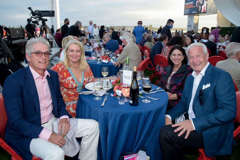 Tom and Jill Mullen, Ann Hill and Dan Yates at the symphony's gala.