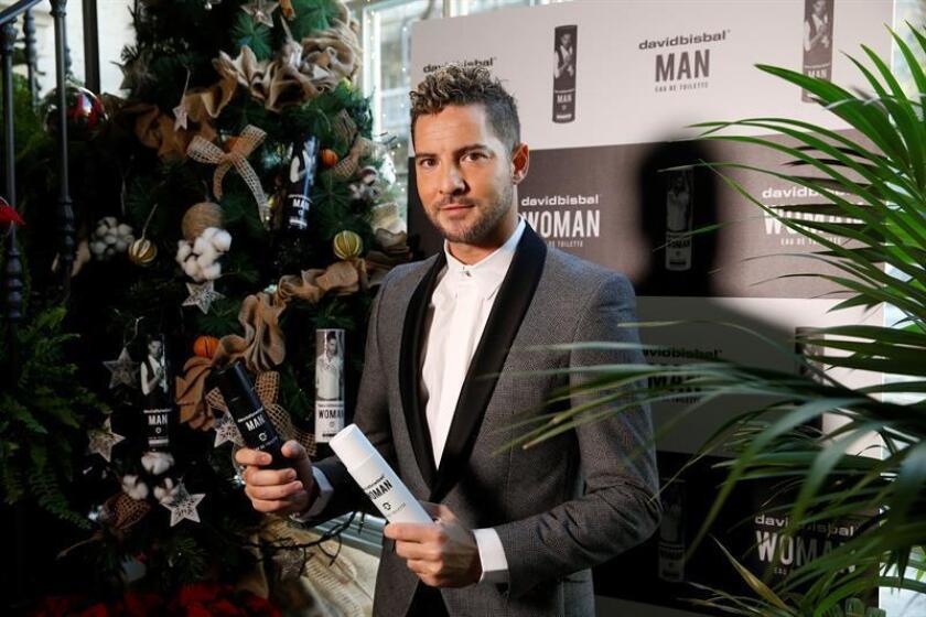 El cantante almeriense David Bisbal presenta su perfume. EFE/Archivo