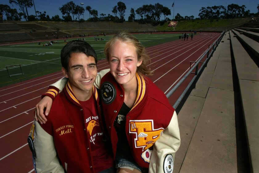 Torrey Pines seniors Alli Billmeyer and Matt Carpowich, both standouts in cross country and track, have earned scholarships to Stanford.