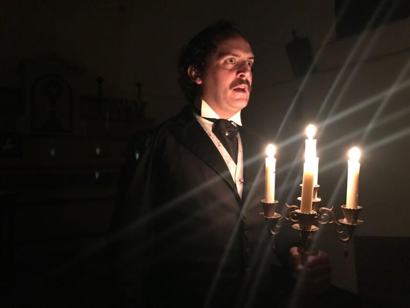 A photo of Rhett Travis Wilson as Edgar Allen Poe