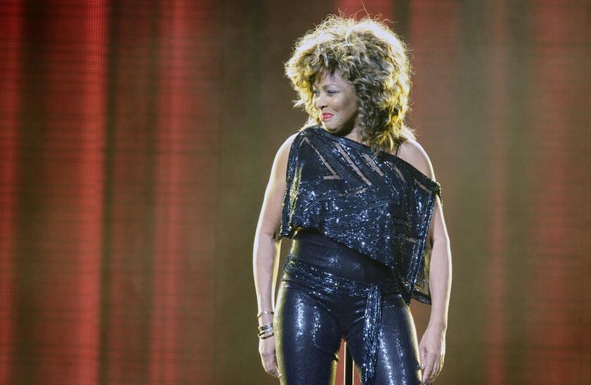 Tina Turner performs in Berlin in 2009.