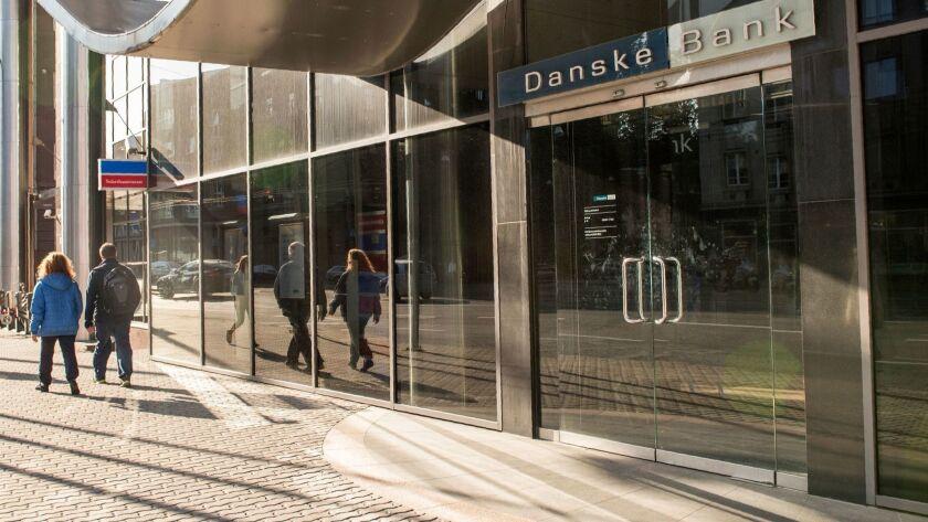 A branch of Denmark's Danske Bank in Tallinn, Estonia, in 2017.