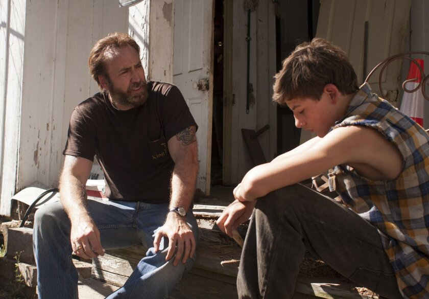 "Nicolas Cage andTye Sheridan in David Gordon Greens ""Joe."" Photo by Ryan Green"