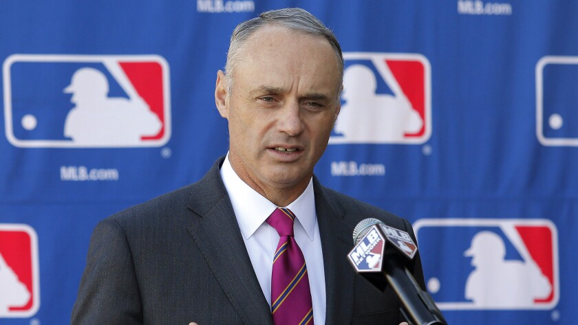 Major League Baseball Commissioner Rob Manfred made an offer Wednesday that includes full prorated salaries for players.