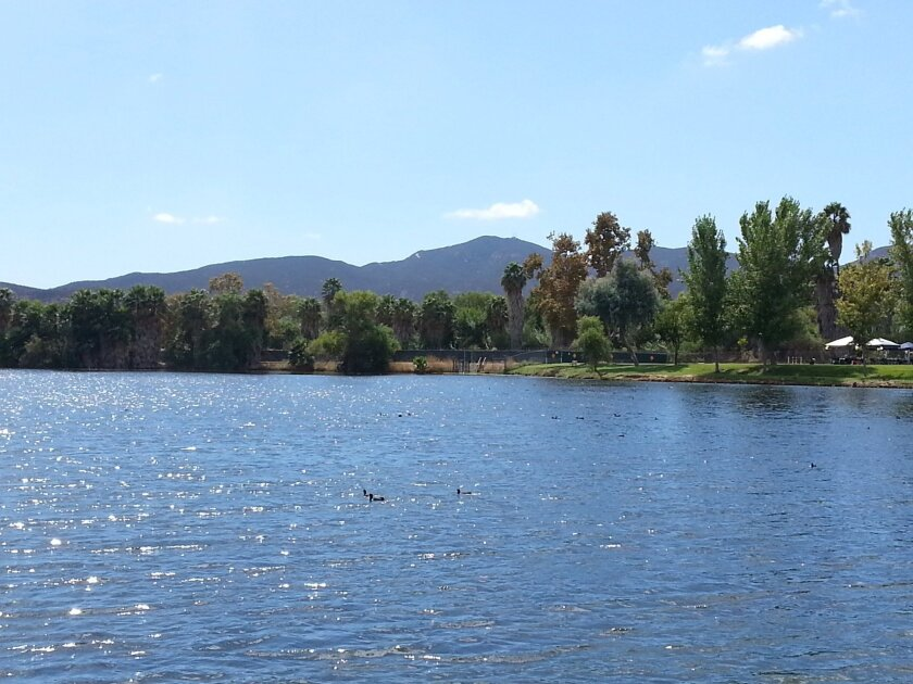 Padre Dam's Santee Lakes, where the Santee Santas will host a fundraiser on Sept. 28.