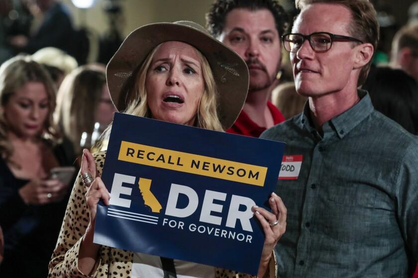 Larry Elder supporter