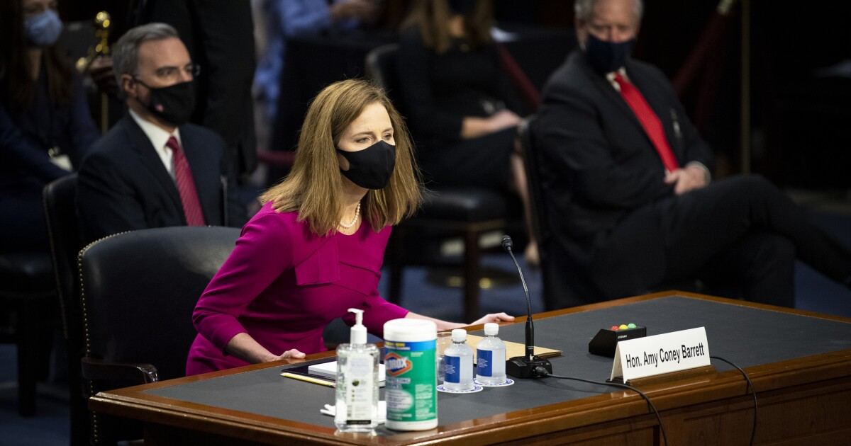 Democrats avoid talk of religion, keep focus on healthcare on day one of Barrett hearing