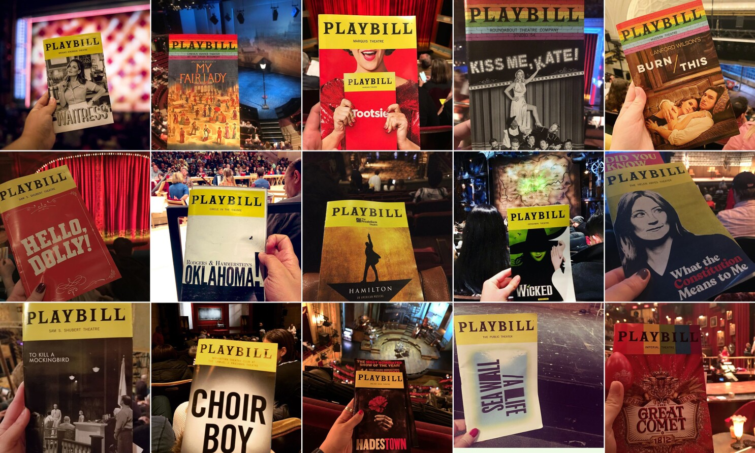 How Playbills became social media must-shares