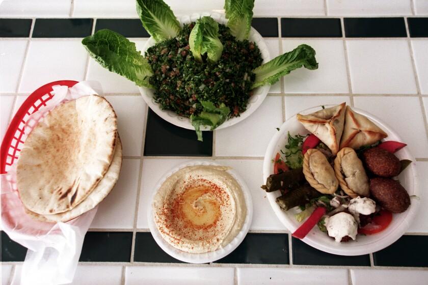 The Mezza Combo at Sunnin Lebanese Cafe.