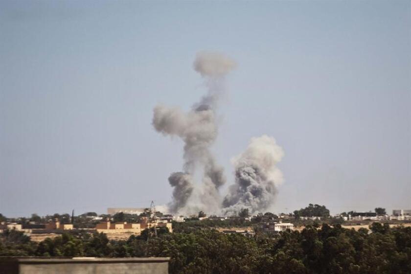 """Un presunto terrorista del grupo Estado Islámico murió hoy en Libia en un """"ataque aéreo de precisión"""" ejecutado por el Ejército estadounidense en coordinación con las fuerzas locales, informó el Pentágono. EFE/Archivo"""