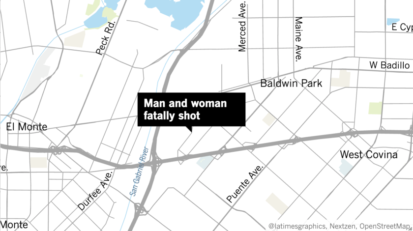 Detectives are investigating after a man and woman were found fatally shot in Baldwin Park.