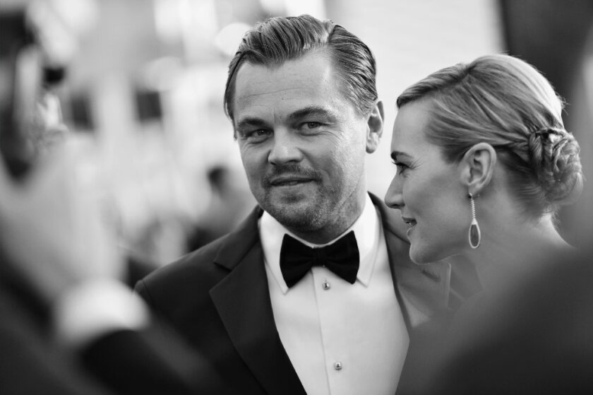Leonardo DiCaprio and Kate Winslet earlier this year at the Screen Actors Guild Awards.