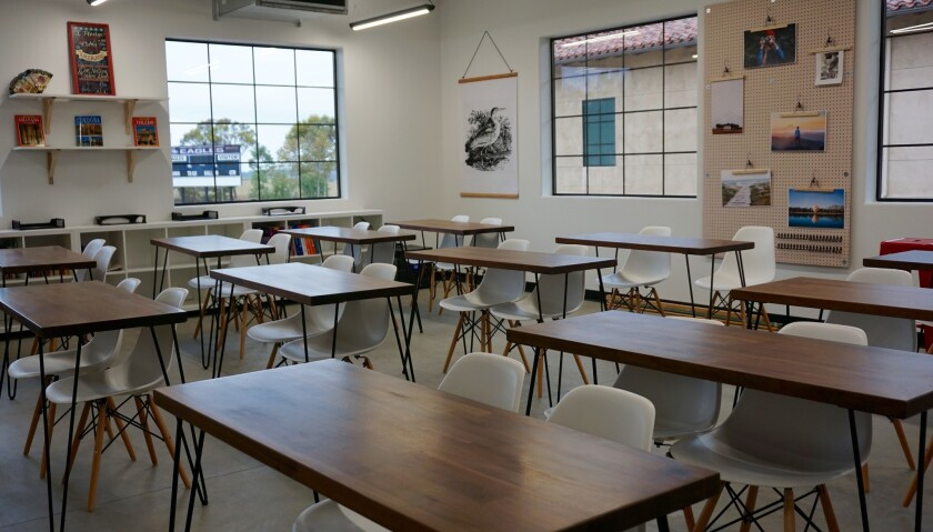 One of the new classrooms.