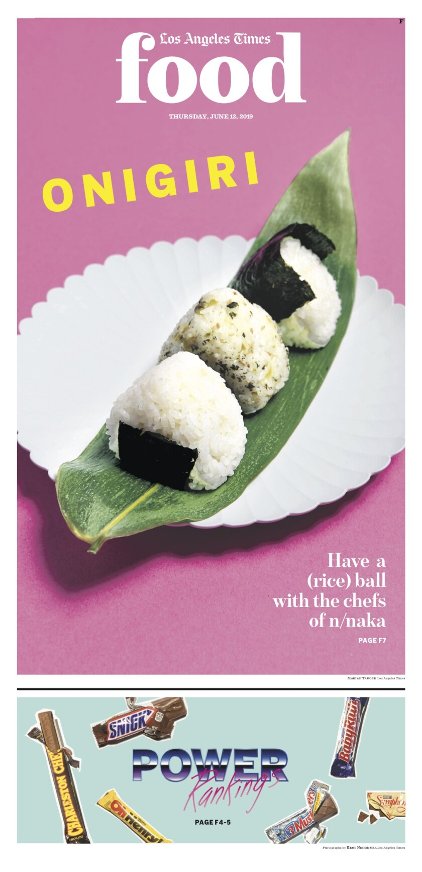 Los Angeles Times Food cover, June 13, 2019