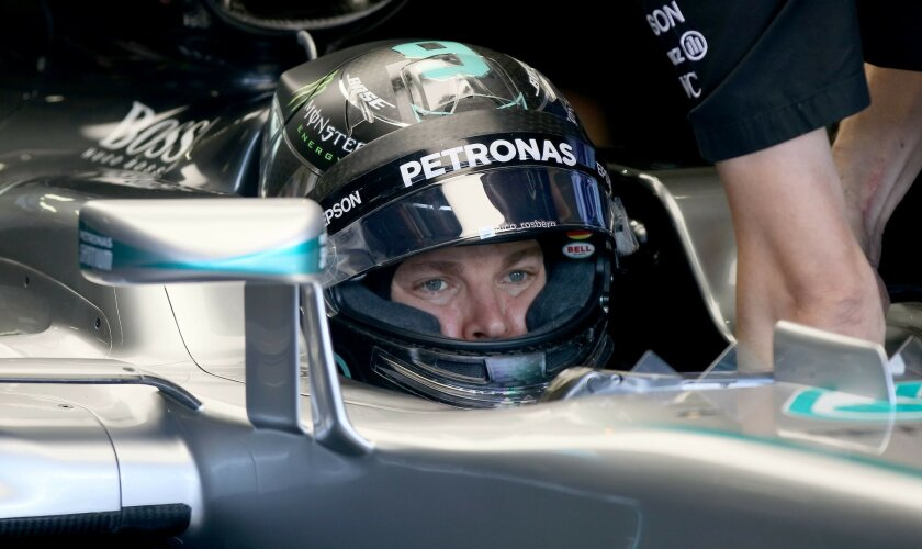 Mercedes driver Nico Rosberg of Germany gets a pit service during the first training session of the Formula One Grand Prix, at the Red Bull Ring in Spielberg, southern Austria, Friday, July 1, 2016. The race is scheduled for Sunday.  (AP Photo/Ronald Zak)