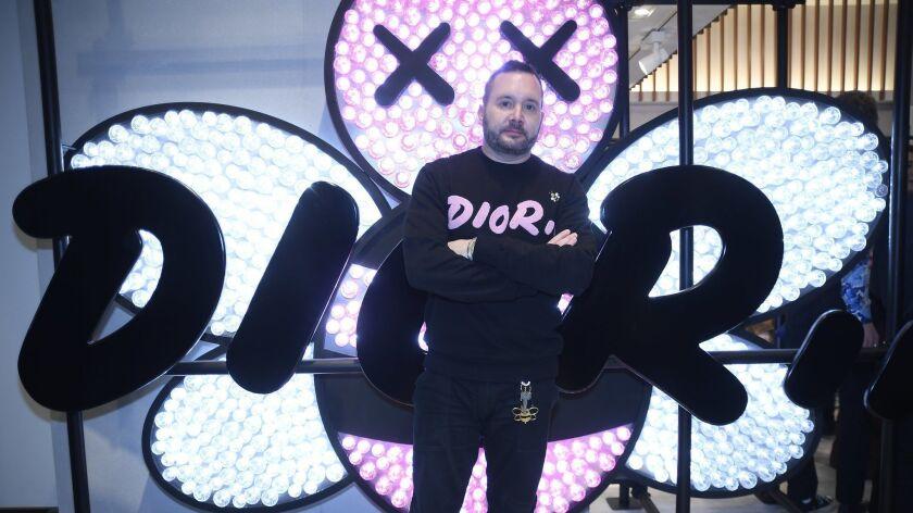 Kim Jones unveils Dior Men's spring 2019 collection at Tokyo pop-up.