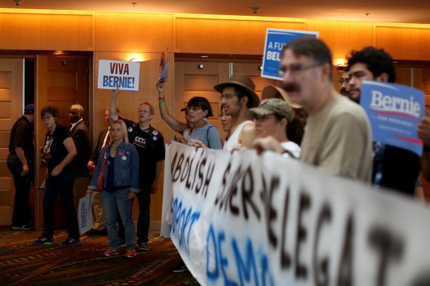 Sanders delegates in Long Beach