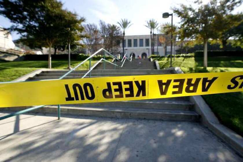 The Glendale College campus was closed due to an electrical outage at the main campus in Glendale on Wednesday, December 5, 2012.