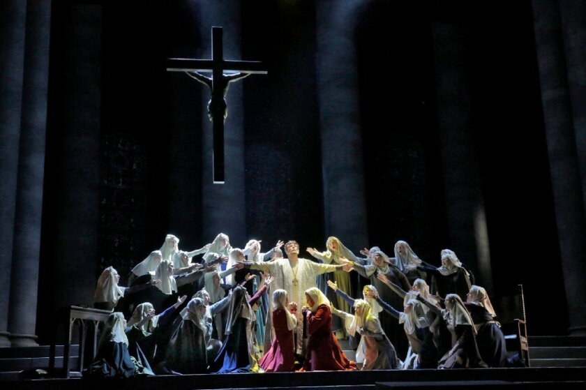 """San Diego Opera's 2013 production of """"Murder in the Cathedral."""""""