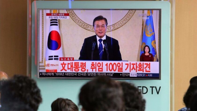 South Korean President Moon Jae-in spoke in a live broadcast about an effort to jump-start diplomacy between the Koreas.